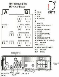 Dietz Retro Look Autoradio Dab+ Usb Bt Radio Fernbedienung Retro301dab Noir