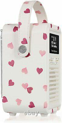 Emma Bridgewater Pink Hearts Vq Portable Rétro Mini Dab Et Dab+ Radio Numérique