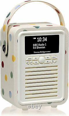 Emma Bridgewater Polka Dot Vq Portable Rétro Mini Dab Et Dab+ Radio Numérique