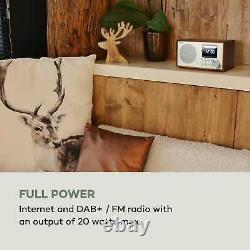 Internet Radio Dab Wi Fi Bluetooth Home Audio Portable Fm Tuner Alarme Oak Retro