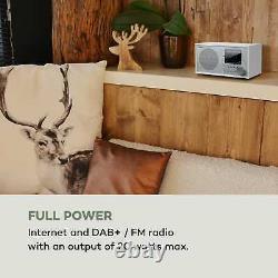 Internet Radio Dab Wi Fi Bluetooth Usb Home Audio Portable Fm Alarme Retro Blanc