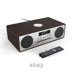 Oakington Dab/dab+ Radio Fm Numérique Bluetooth Lecteur CD Sans Fil Micro Retro Aux