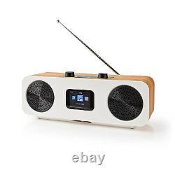 Radio Internet Rétro 34w Système Numérique Dab+ Fm Hi-fi Wifi Bluetooth Wood Effect