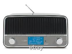 Radio Salon Vintage Look Rétro Dab+/fm Technologie Bluetooth Sans Fil Calibre