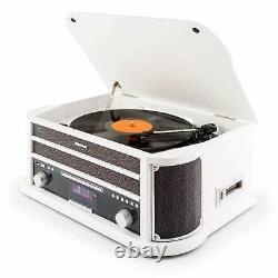 Refurb. Table Tournante Rétro Vinyl Stereo System Bluetooth Dab Radio Mp3 Enregistreur Usb