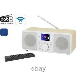 Renkforce Rf-irdab-retro1 Internet Dab+ Fm Radio Da Tavolo Aux Bluetooth