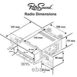 Retro Sound San Diego Digital Radio Classic Car Dab Usb/bt / Aux Mercedes