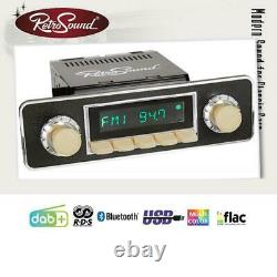 Retrosound Motor-6 Dab+ Komplett-set Ivory Rsd-ivory-6 Mit Zubehör Autoradio