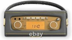 Roberts Digital Compact Radio Dab/dab+/fm Avec Alarme Charcoal Grey Uno
