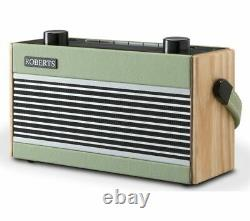 Roberts Rambler Portable Dab+/fm Rétro Bluetooth Radio Green Currys