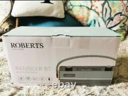 Roberts Rambler Rétro Bluetooth Portable/tabletop Radio Bleu
