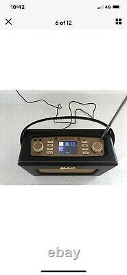 Roberts Revival Rd70 Rétro Radio Dab Portable Avec Bluetooth En Noir