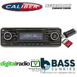 Style Rétro Dab Bluetooth Usb 75x4w Voiture Stéréo Radio Lecteur Black Rmd120dab-bt/b