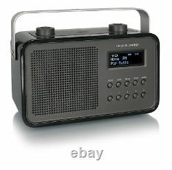 Tangent Dab2go Rétro Transistorradio Portable En Noir Design Rétro Fm/dab Radio
