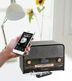 Technaxx Retro Dab +/fm Stereo Radio Avec Lecteur CD & Usb Bluetooth Recording P