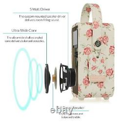 Vq Emma Bridgewater Retro Vintage Dab Radio Portable Rose & Bee Bluetooth
