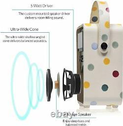 Vq Portable Rétro Mini Dab Et Dab+ Radio Numérique Avec Fm, Bluetooth, Aux, Usb