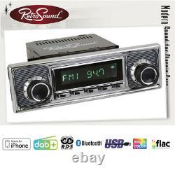 Vw 411 412 Becker Vintage Car Radio Dab + Usb Bluetooth Retro Look Design